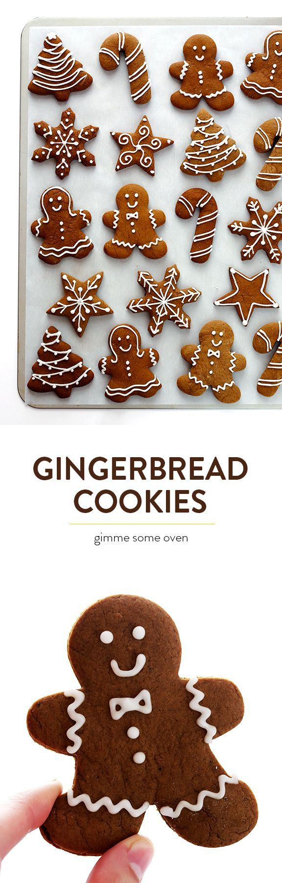 My favorite recipe for traditional Gingerbread Cookies! They're easy to make, pe...