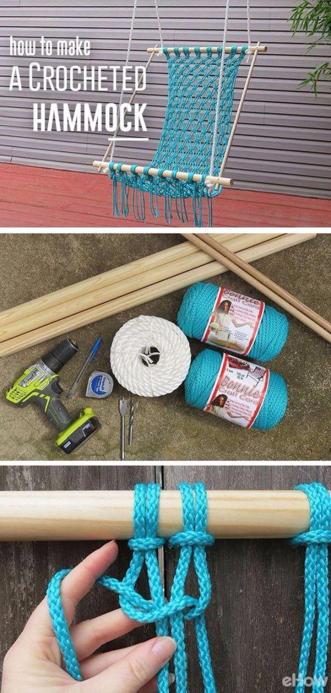 Creative DIY Mothers Day Gifts Ideas - Macrame Hammock - Thoughtful Homemade Gif...