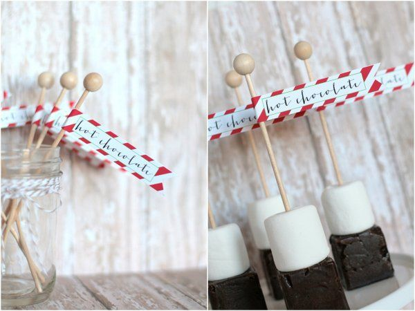 Hot chocolate on a stick with free printable