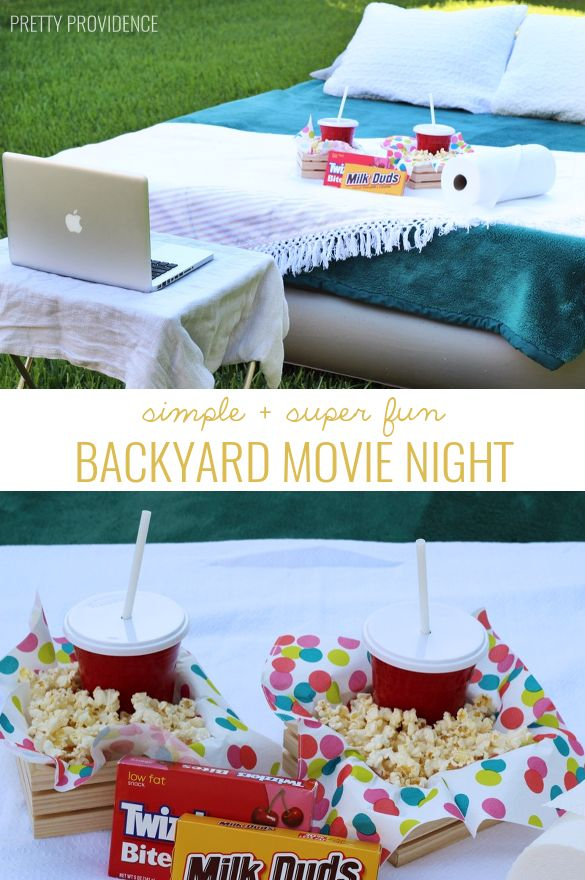 on my summer bucket list! backyard movie! grab an air mattress + laptop and have...
