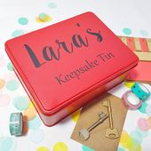 Personalised Keepsake Tin