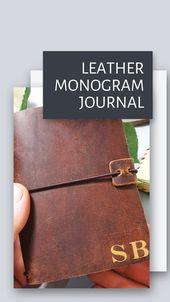 Personalised Monogram Leather Journal I Birthday Travel Gift I Travellers Notebook I Mens Gift Idea