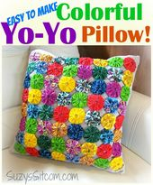 Easy to make Spring Yo-Yo Pillow!