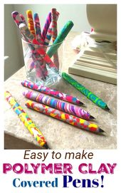 How to make Decorative Pens with Polymer Clay!