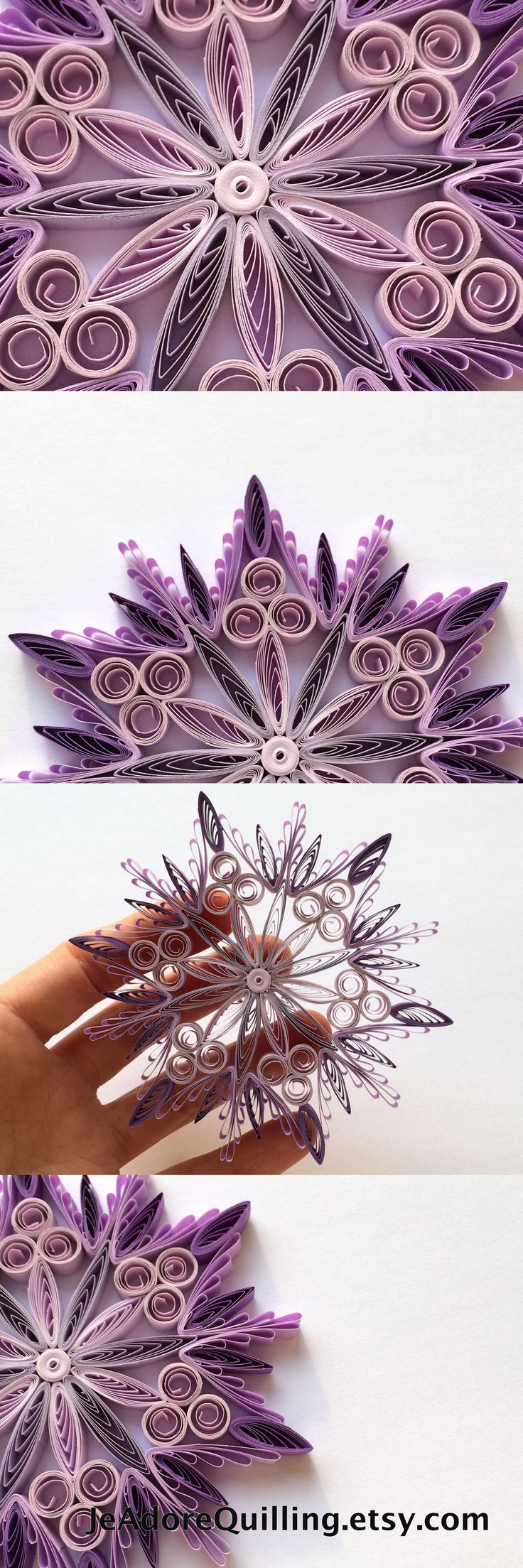 Snowflake Purple Christmas Tree Decoration Winter Ornaments Gifts Toppers Filler...