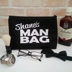 Large Man Bag with Name, mens overnight toiletry bag, gift for guy, personalised...