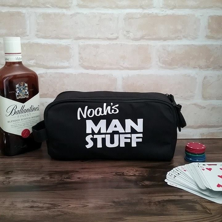 Mans Stuff Toiletry Bag, wedding gift for groomsmen, mens toiletry bag, personal...