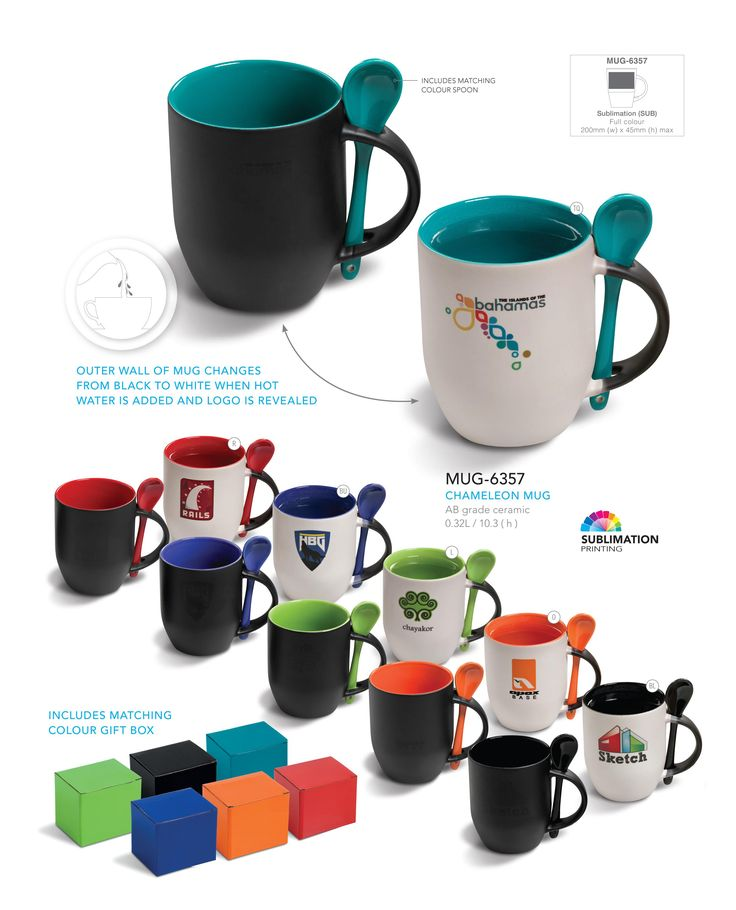 Chameleon Mug - Corporate Gifts - Drinkware on www.ignitionmarke...