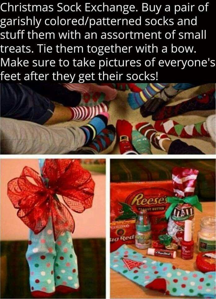 Xmas Sock Exchange . So doing this !